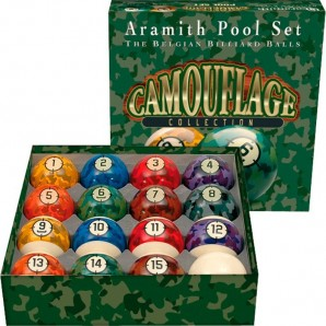 BOLAS POOL ARAMITH CAMOUFLAGE 57,2MM